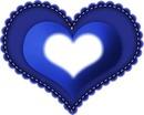 coração azul escuro