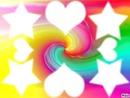 Multicolores Coeurs Etoiles