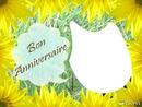 anniv fleurs jaunes