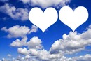 Céu azul com 2 corações