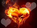 cœur flamme