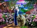 la femme et l'ours