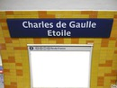 Charles de Gaulle Etoile Station Métro
