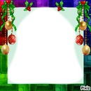 cadre Noël boules