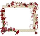 Marco con flores miniatura