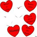Coeurs rouges-Fête des mères