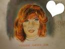 Mylène Farmer 2019 avec coeur dessin fait par Gino GIBILARO