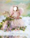 ange cygne fleurs