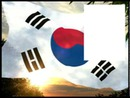Korea flag flying