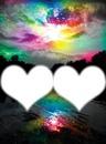 ciel multicolore 2 cadres coeur