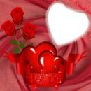 1 photo coeur amour rose love iena