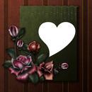 cadre fleur et coeur