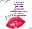 i love you langue