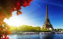Soleil à coté de la Tour Eiffel