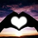 Coeur + Coucher de soleil