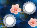Cadre dentelle fleurs