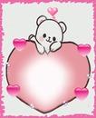 Cc corazón con oso