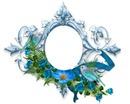 cadre bleu+oiseau