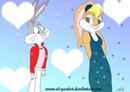 Lola Bunny end Bugs Bunny I Love You