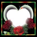 Cc corazon con rosas