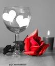 verre coeur