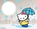 hello kitty sous la pluie