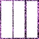 3 cadre au fond léopard violet