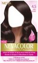 Nevacolor Premium 4.5 Kızıl Kestane - Kalıcı Krem Saç Boyası Seti