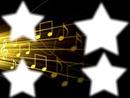 notes de musiques dans les étoiles