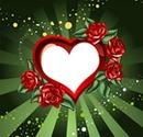 corazon con rosas
