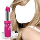 Pink Lipstick in Blonde Girl