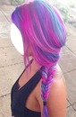 cabelo roxo rosa e azul