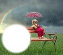 Pluie/arc-en-ciel/enfant