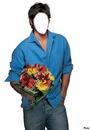 Un homme vous offre des fleurs****