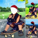 малыш на скейте