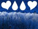 Mes gouttes de larmes et mon coeur en hiver
