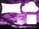 Purple sky ciel mauve 3 cadres