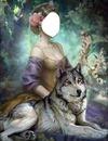lobo gris y chica