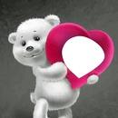 osito blanco con corazon