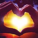 coucher du soleil en coeur