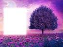 Arbre-paysage violet