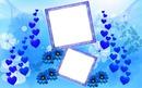 Cadre d'amour bleu