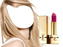Fuchsia Lipstick Girl