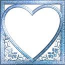 cadre coeur bleu