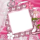 cadre rose 1 photo