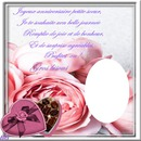 cadre de rose avec texte perso pour un joyeux anniversaire