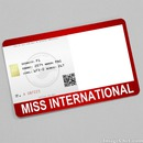 Miss International Card