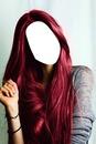 cheveux bordeaux