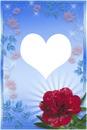 coeur avec fleure rouge