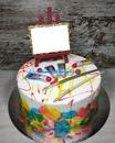 Torta di compleanno per pittore
